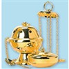 Incense Censer and Boat with 24k Gold Plating